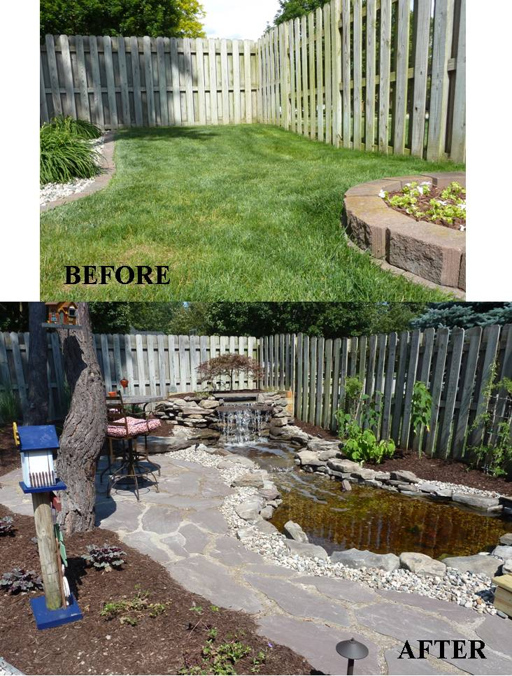 Backyard Makeover: Waterfall & Pond - Knapp Valley Landscaping